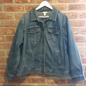 Charter Club Woman 2X denim jacket EUC